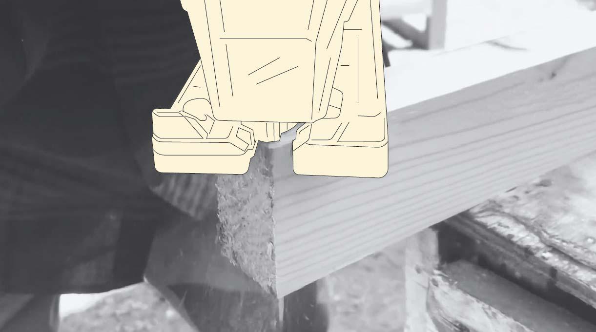 corte de la madera con sierra caladora
