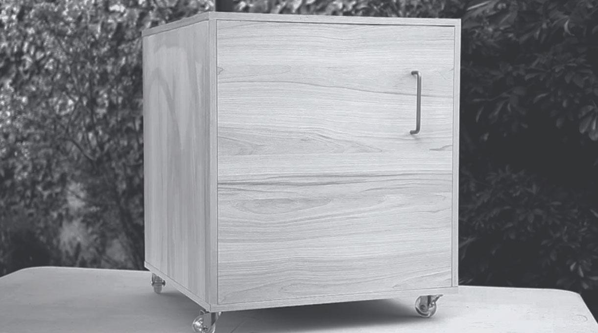 segundo cajón del mueble para yoga en casa armado