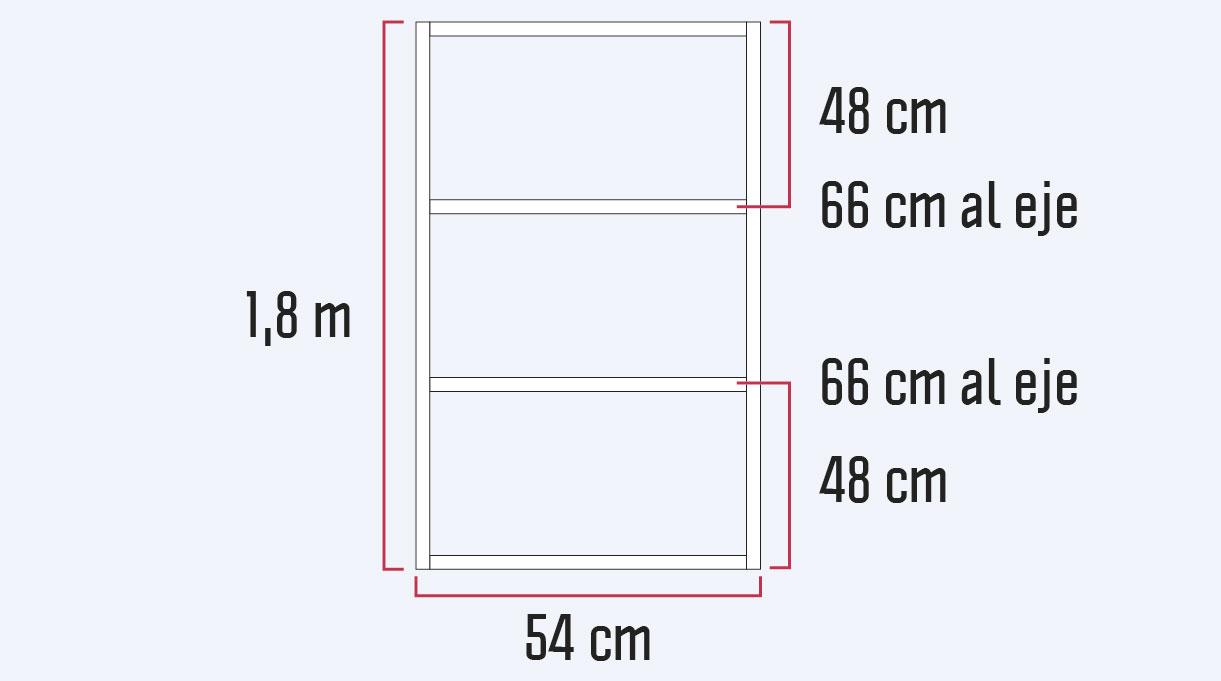 gráfica de las dimensiones del bastidor lateral