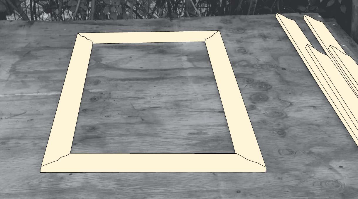 hacer los rectángulos con las molduras