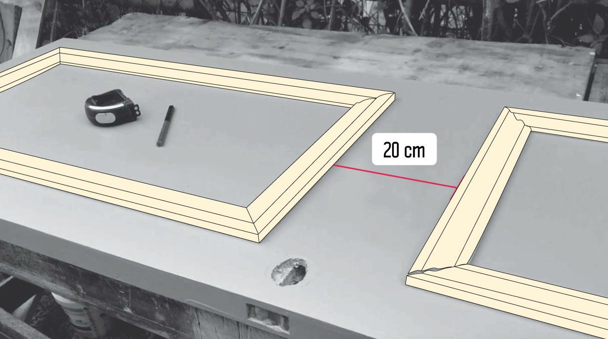 medidas de distancia de las molduras para las puertas