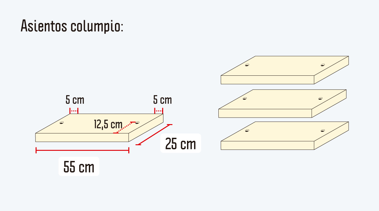 imagen de los asientos de columpio del comedor de terraza