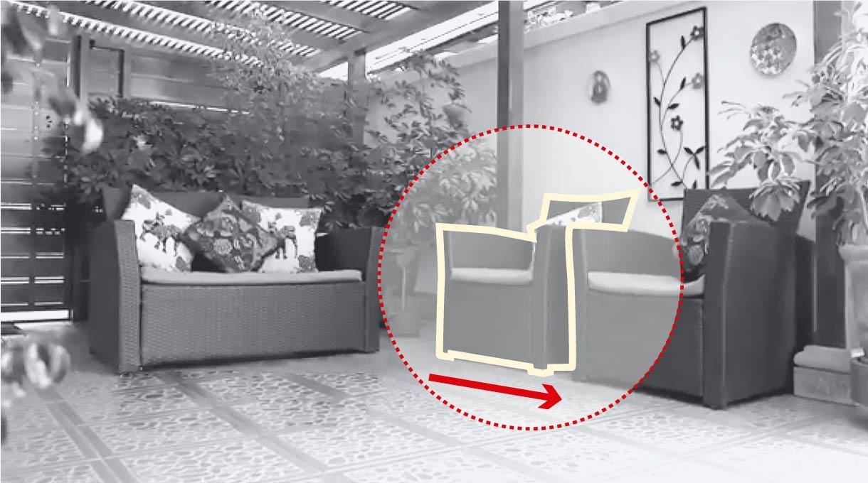 mover muebles para dejar más espacio