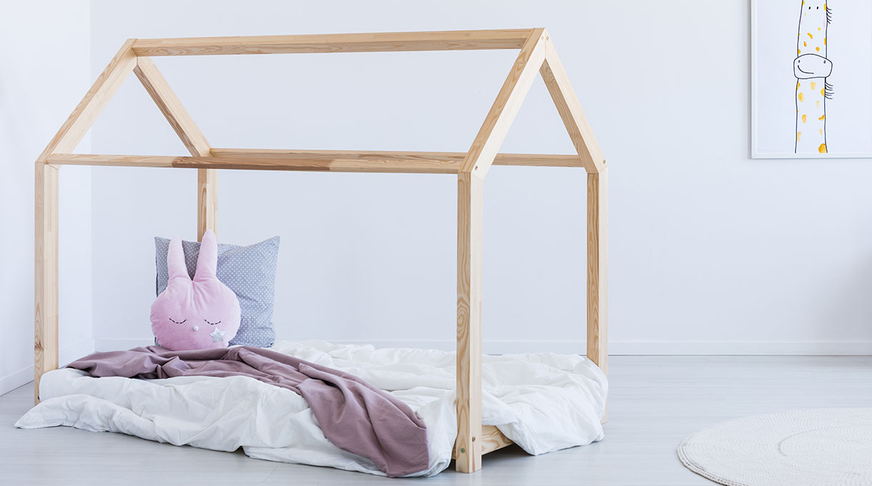 foto de la cama Montessori terminada