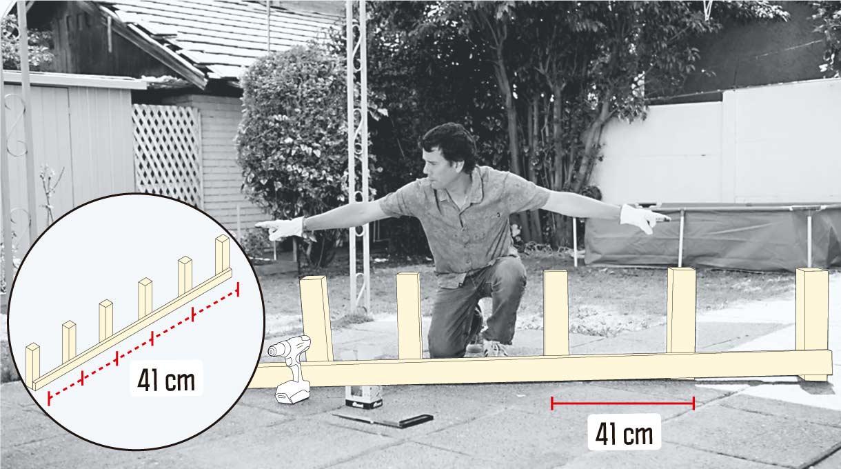 Pilares para formar la estructura vertical