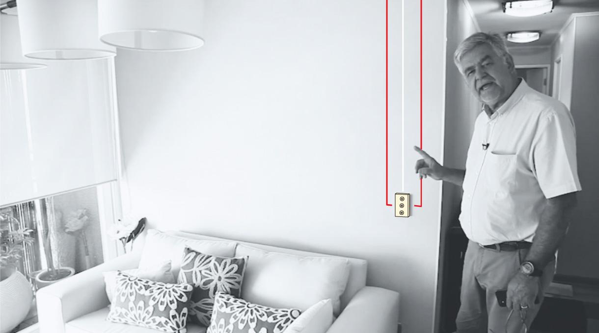 cable neutro (blanco) y fase (rojo) del interruptor smart