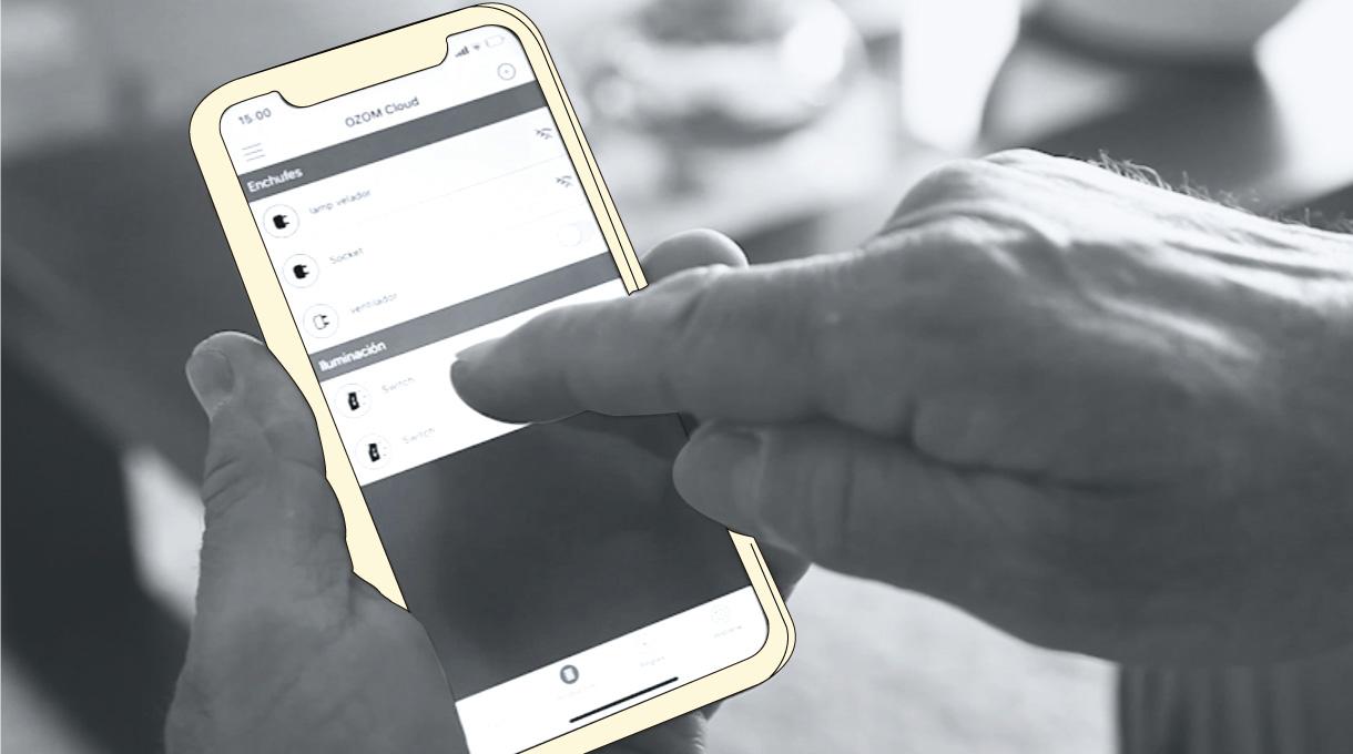 configuración del interruptor smart en el celular