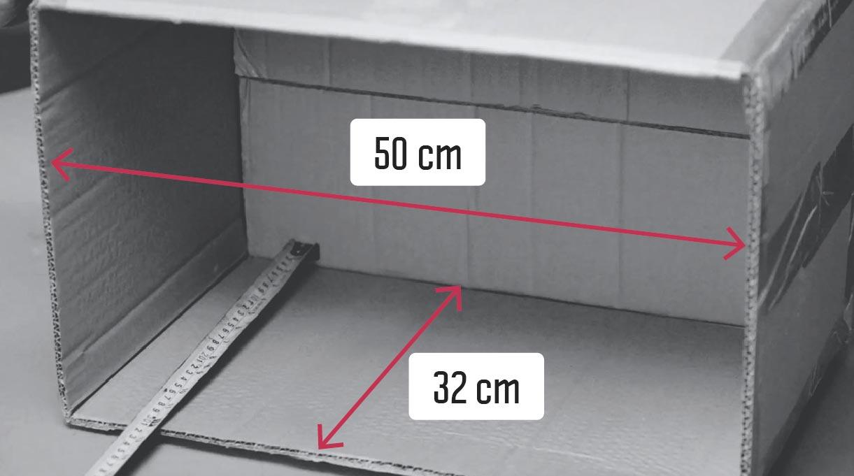 medir ancho y profundidad interior del velador