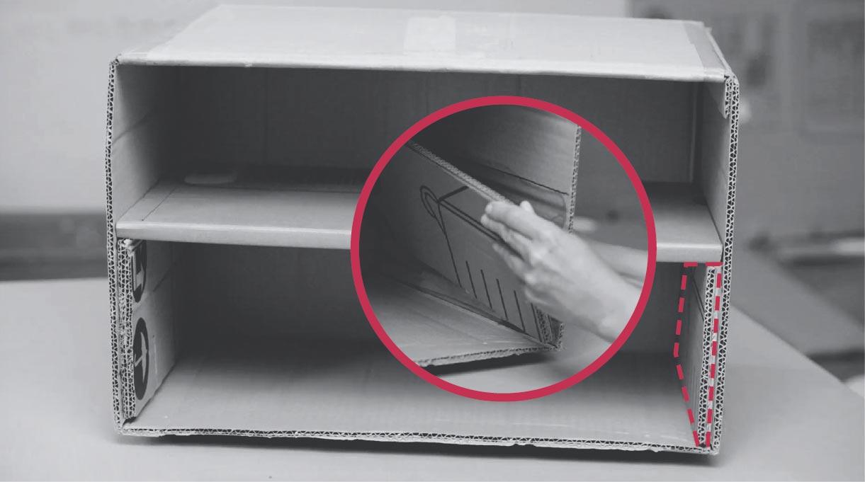 pegar soportes a los laterales internos del velador