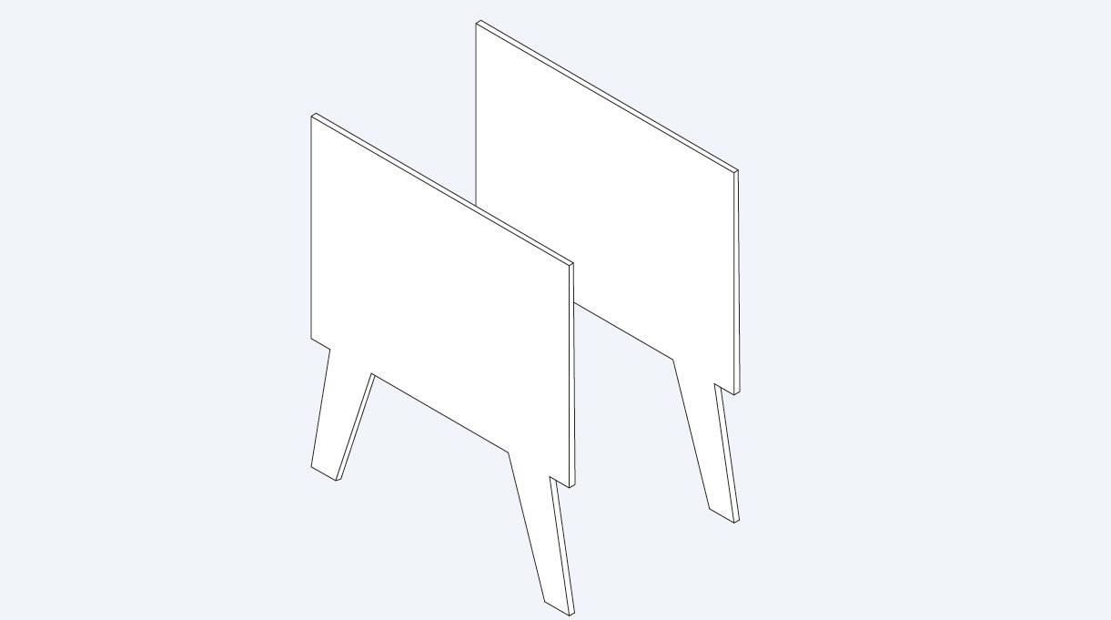 marco trasero y delantero con patas