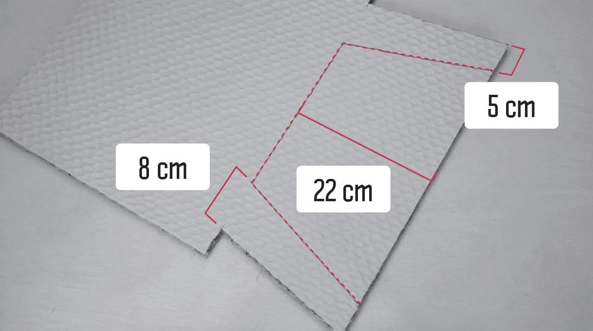 Marcas en la parte inferior del marco