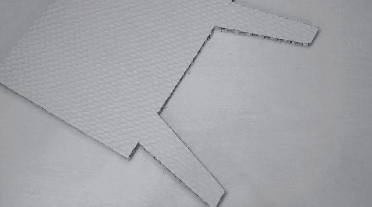 cortar las marcas para obtener marco con patas
