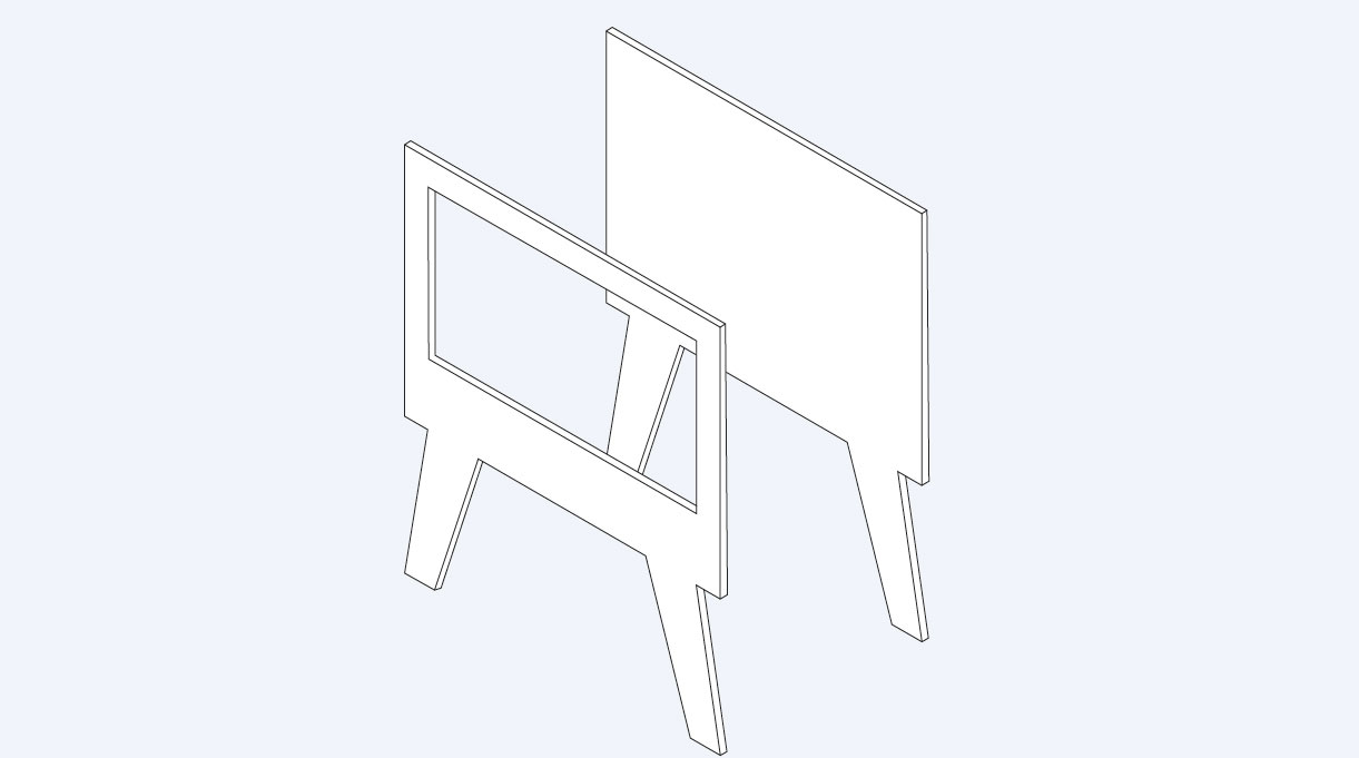 marco frontal calado y marco trasero
