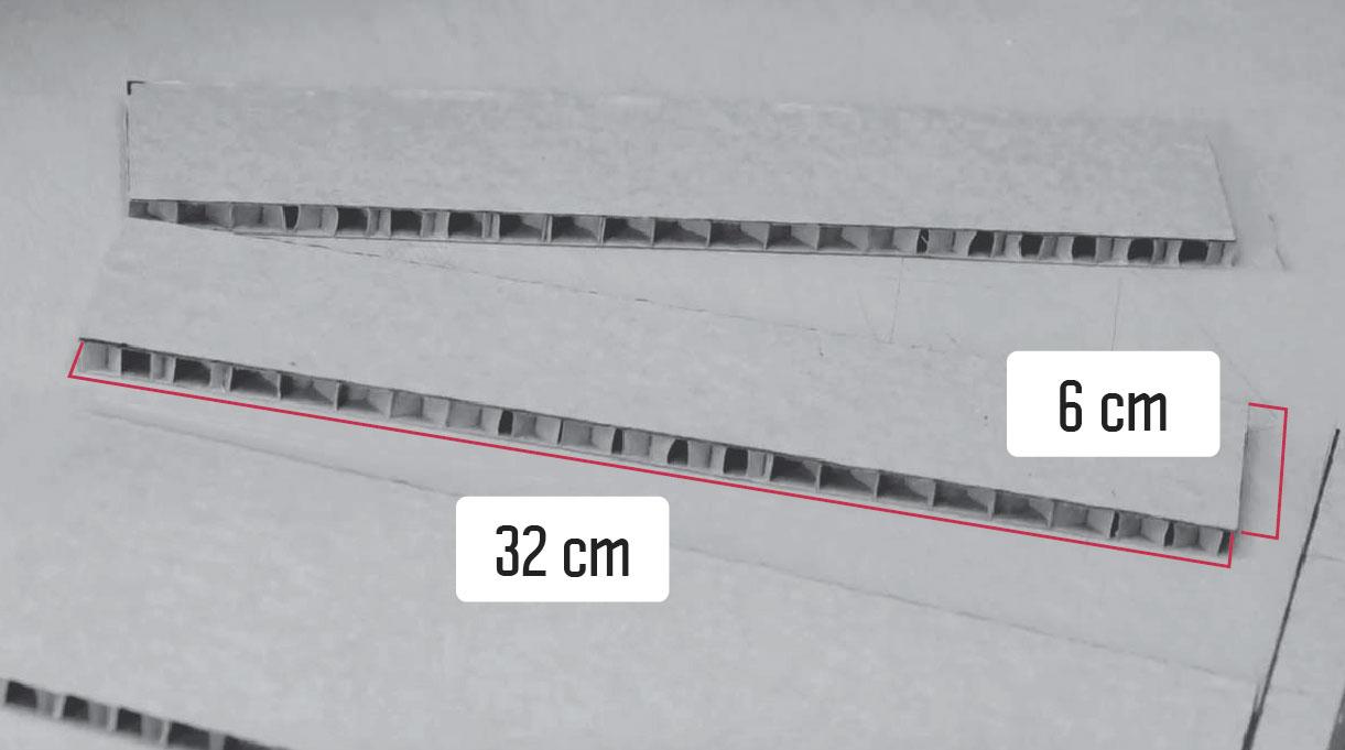tiras de cartón de 6 x 32 cm