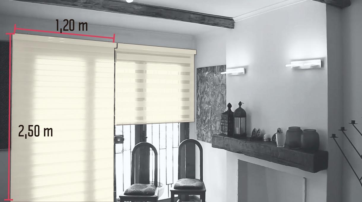 medidas de las cortinas enrollables