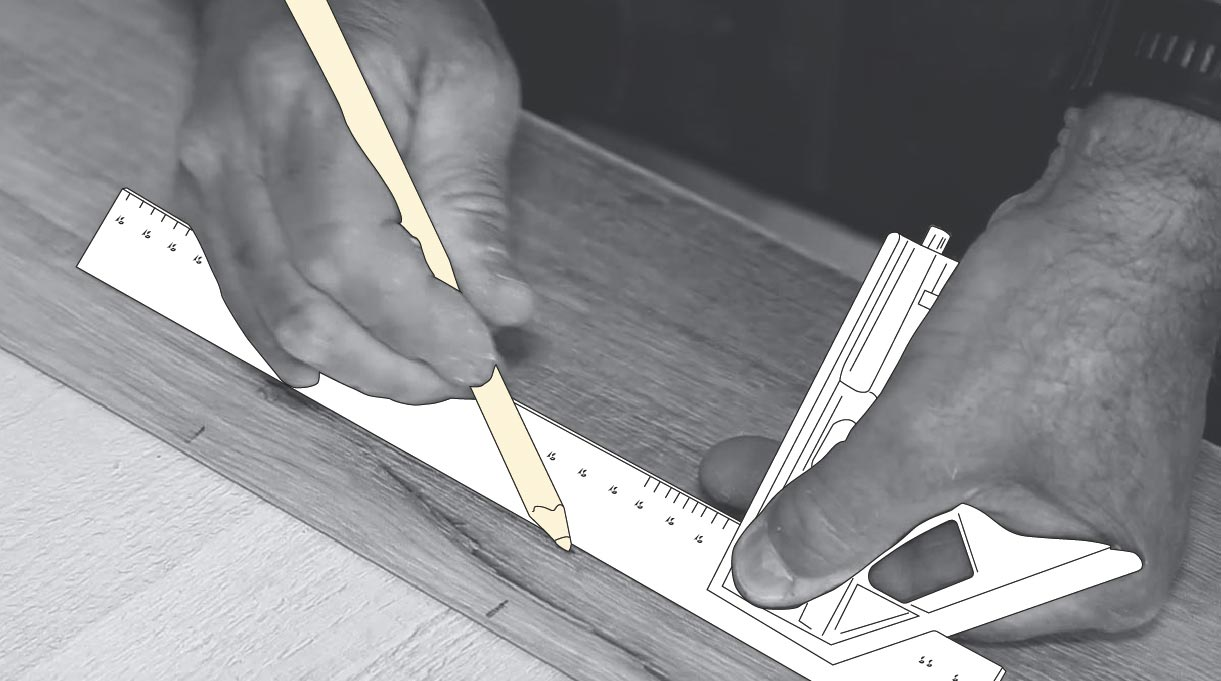 Tomar medidas en la lámina de piso vinílico