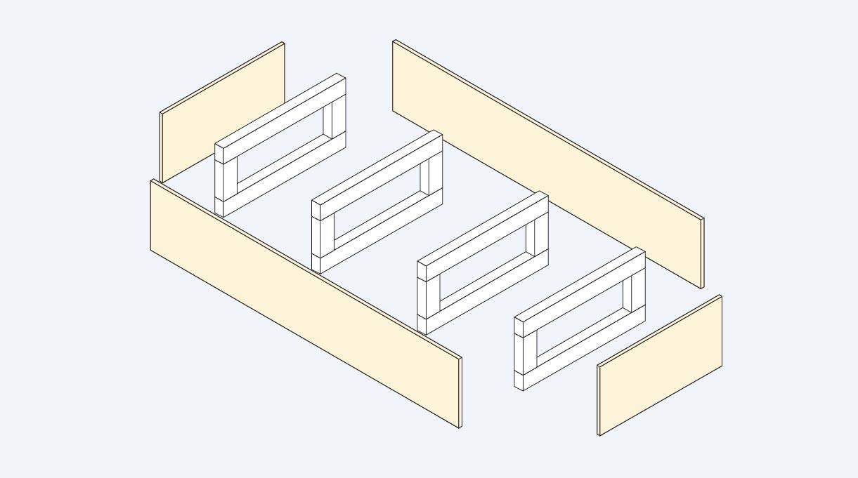 estructuras que conforman el sillón en L