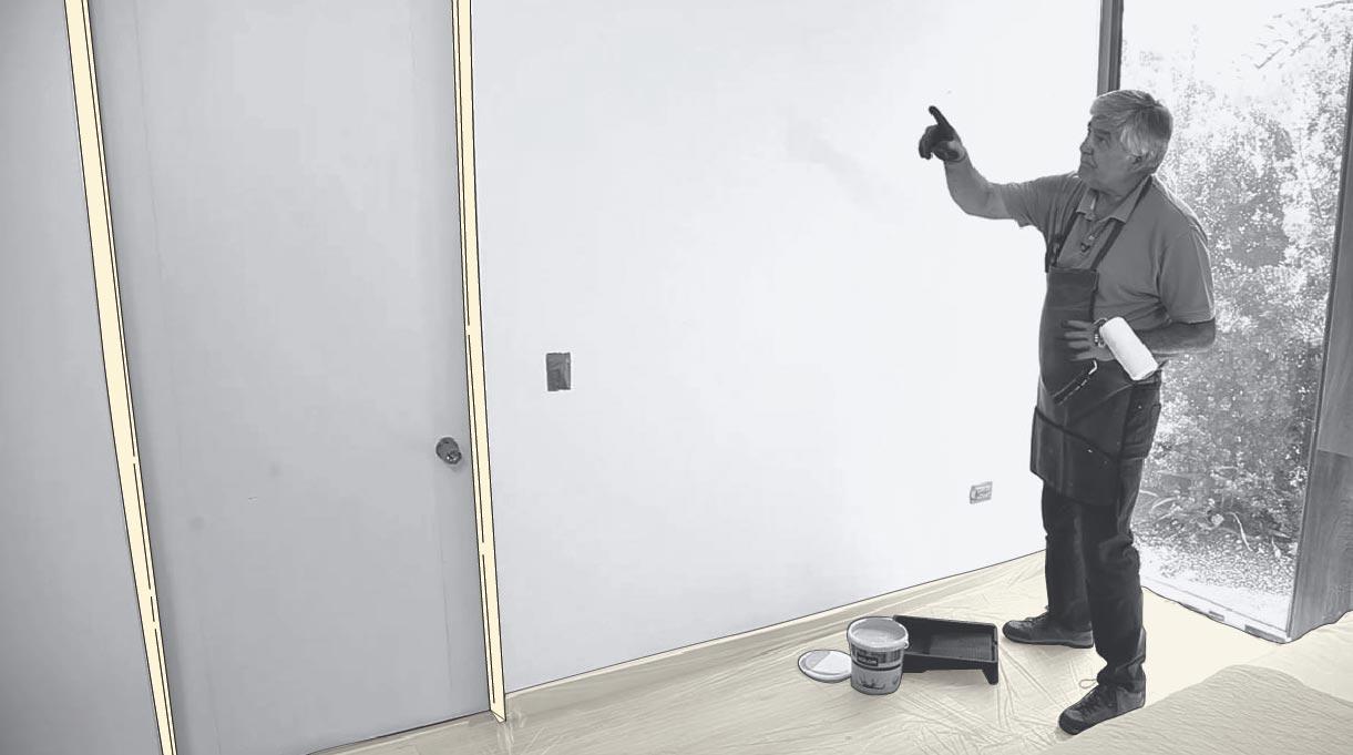 Colocar cinta para enmascarar antes de pintar