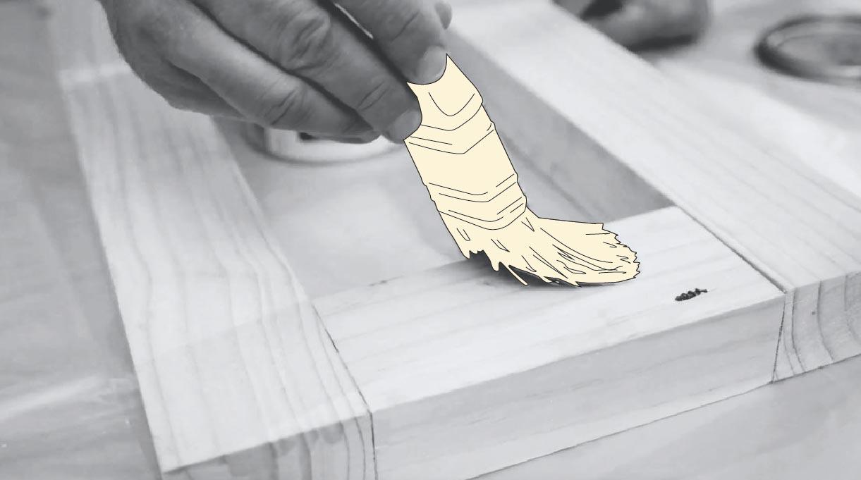 proteger y pintar la madera con brocha