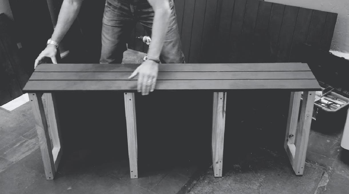 Mueble en L semi armado