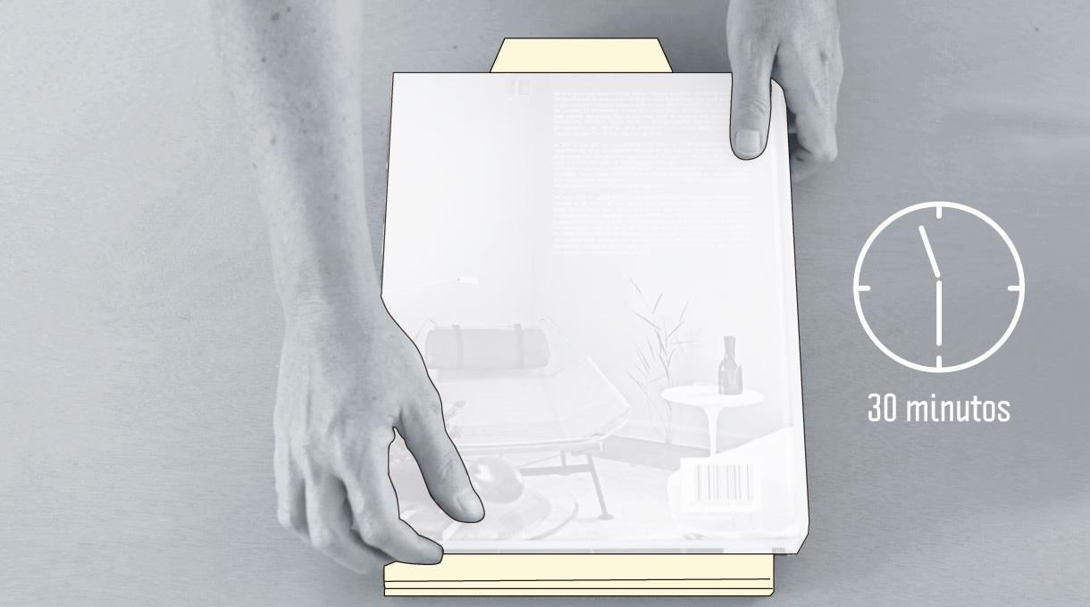 Dejar reposar las capas pegadas con un peso encima