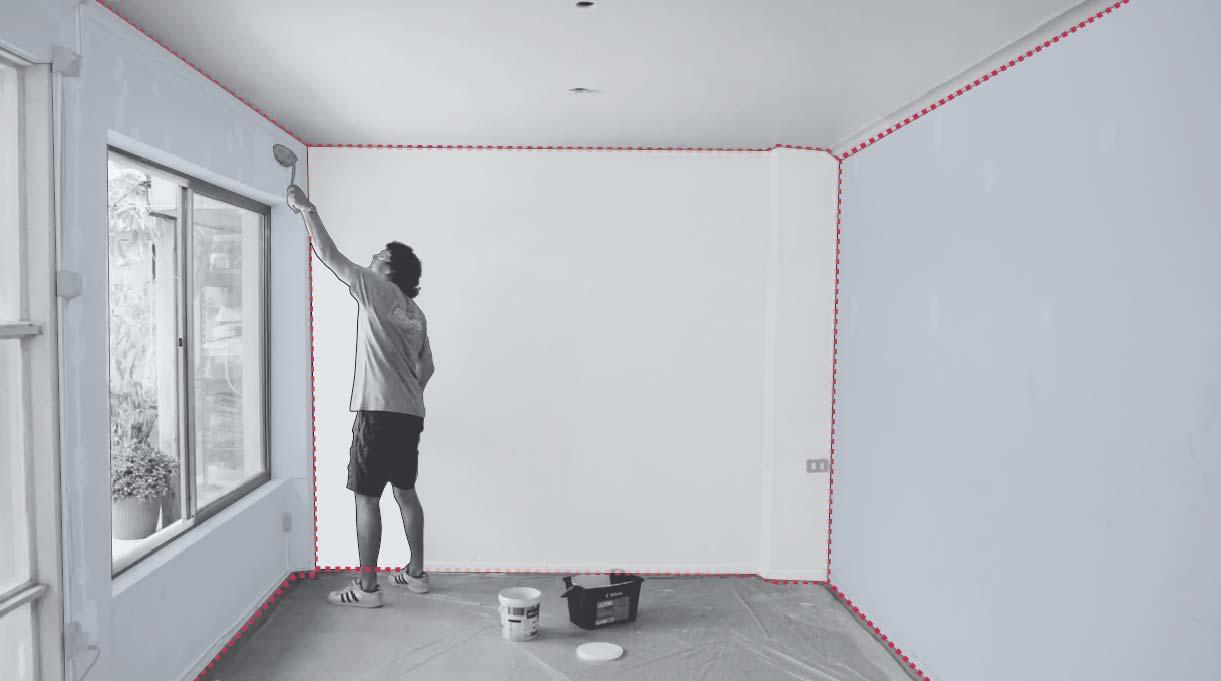 Pintar los muros con rodillo