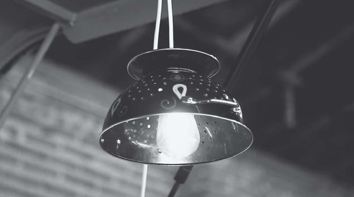 lámpara reciclada colgante
