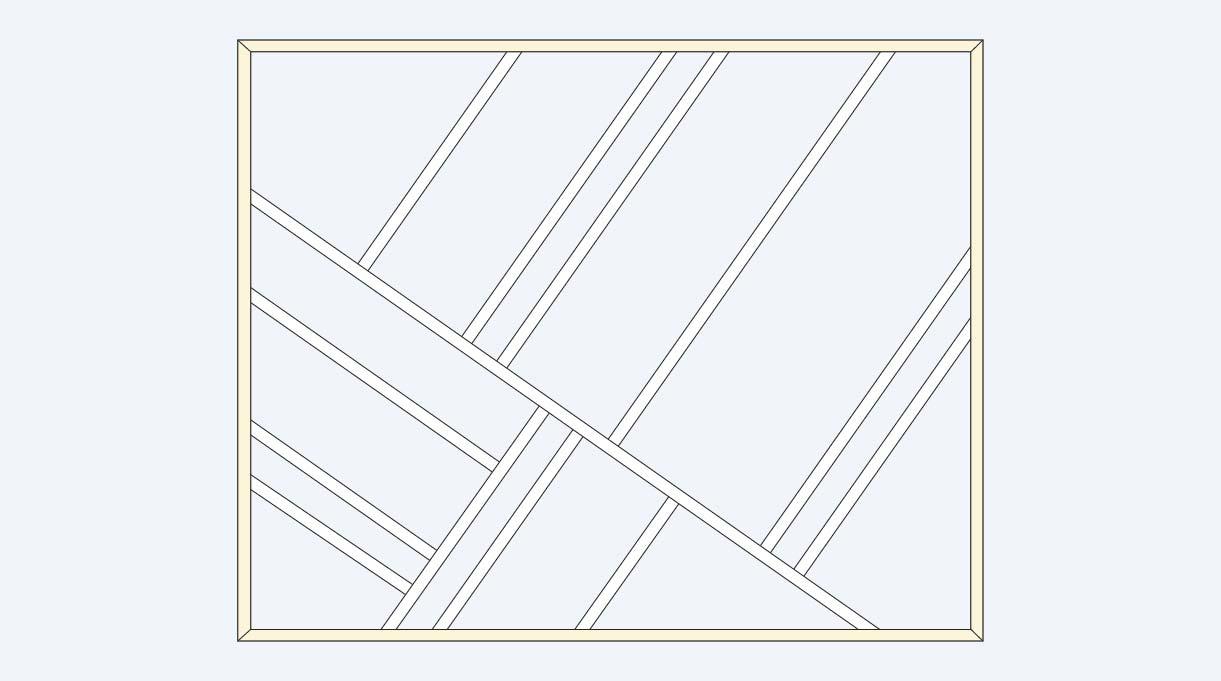 dibujo del diseño geométrico con molduras en el muro