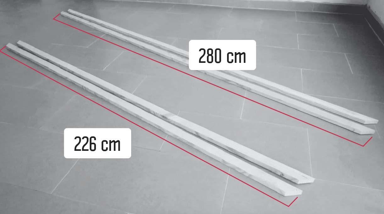 medidas de los listones para hacer el marco en el muro