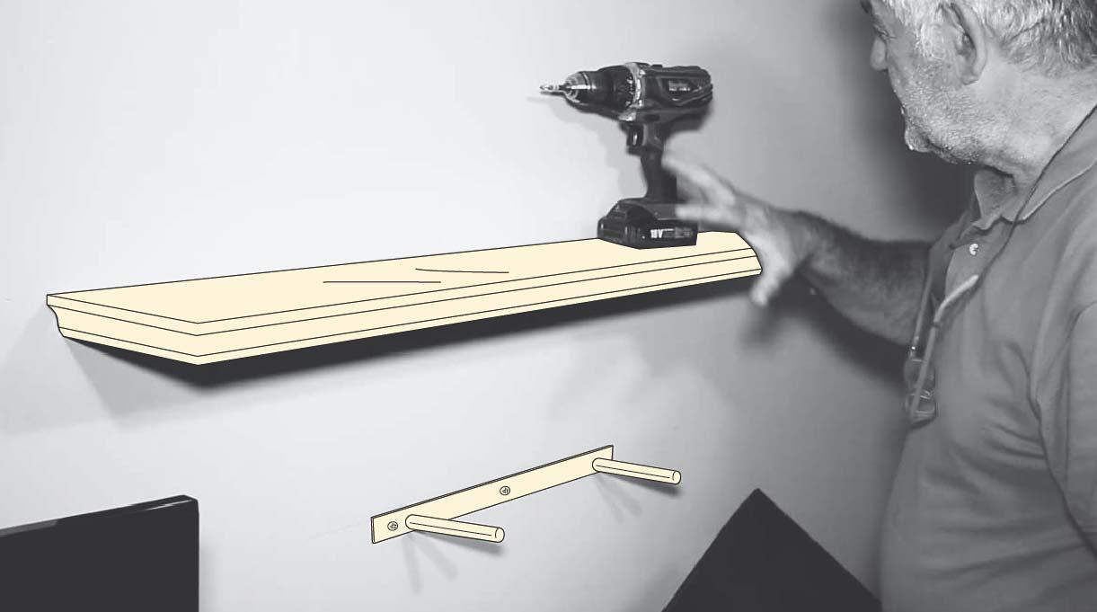 instalar dos repisas volantes en el dormitorio gamer