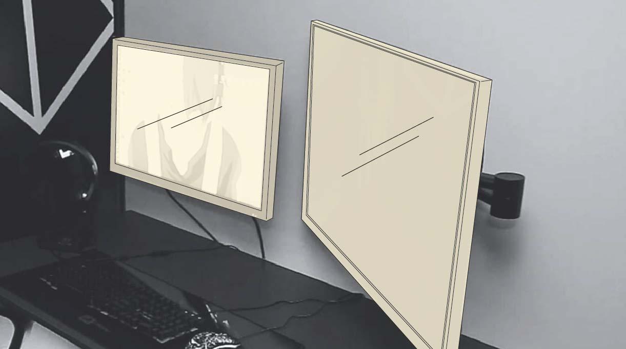 monitor y televisor del dormitorio gamer