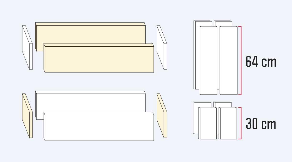 medidas de las maderas para el macetero autorregante