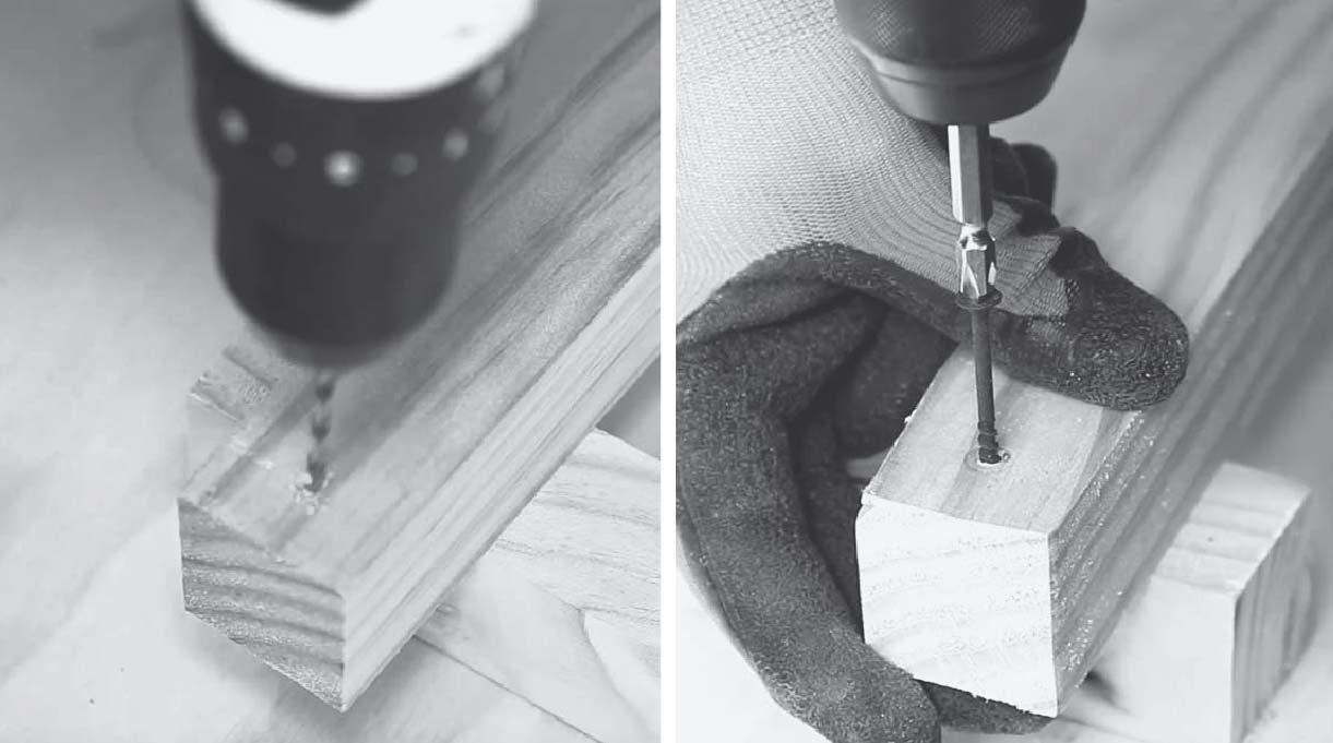 perforar con broca delgada la madera antes de atornillar
