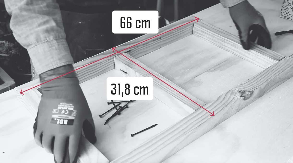 Bandeja del velador hecha con madera de 66 y 31,8 cm