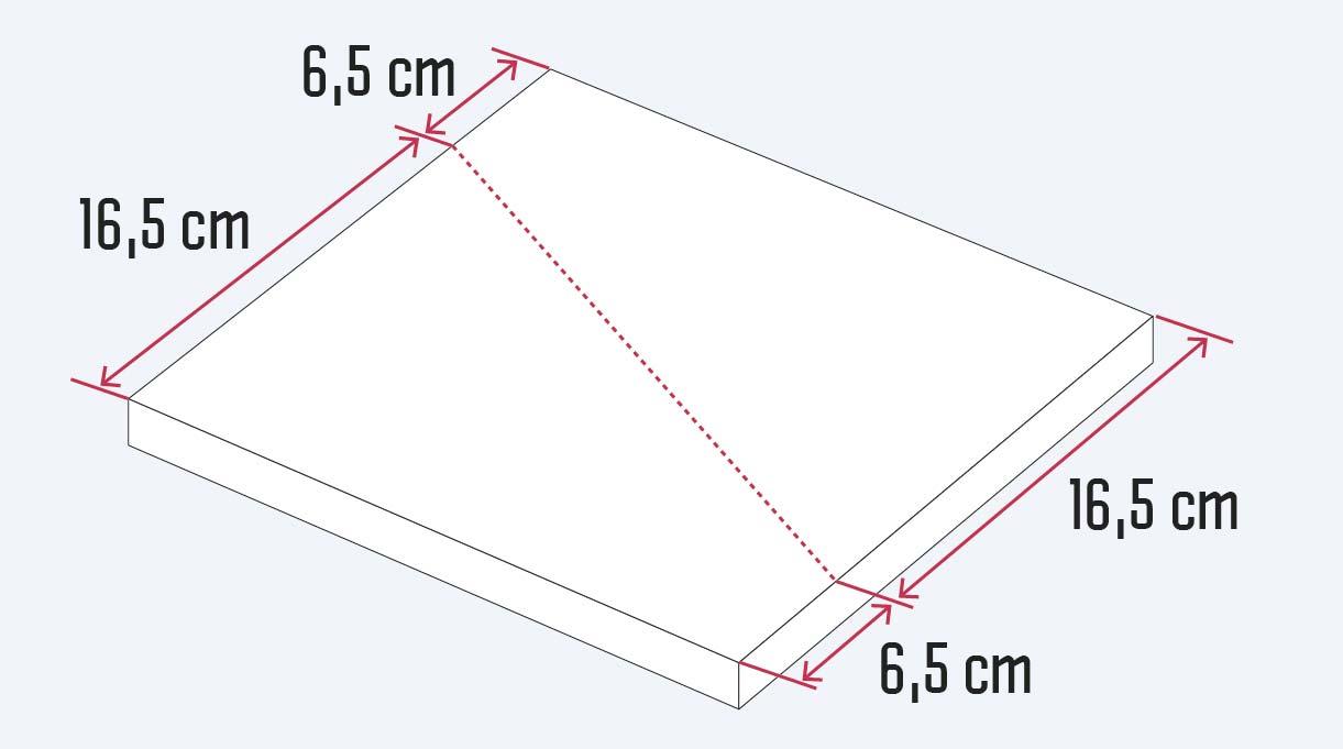 cortar el trozo de madera de 30 cm en diagonal