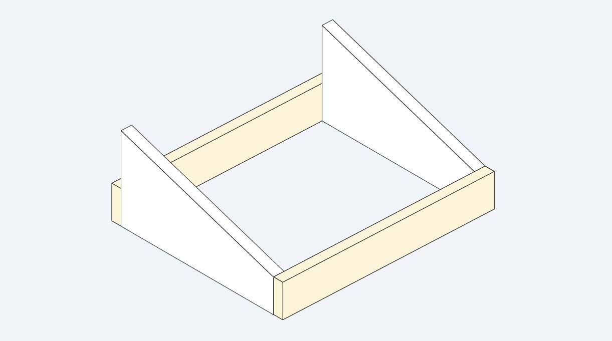 unir las piezas laterales con el posterior y el frontal