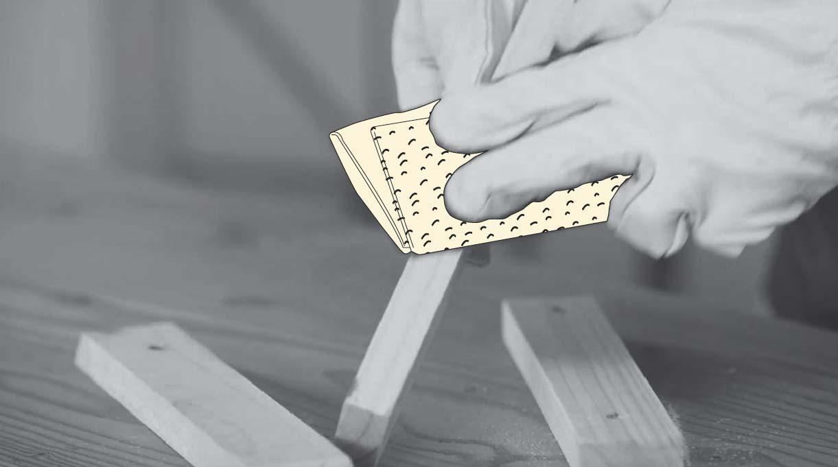lijar los trozos de madera