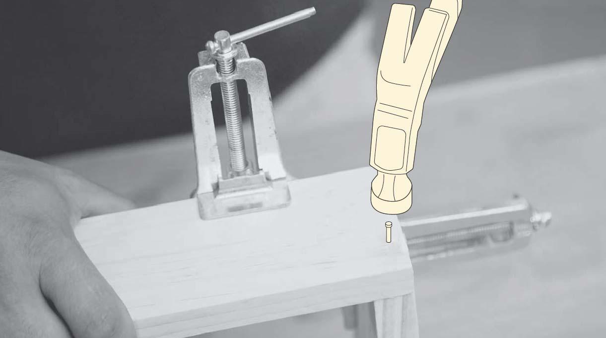 fijar las piezas con puntas