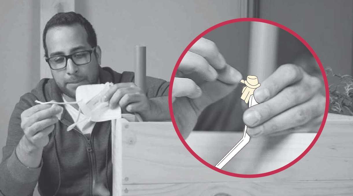 hacer un desagüe para el macetero autorregante con una bombilla y tela