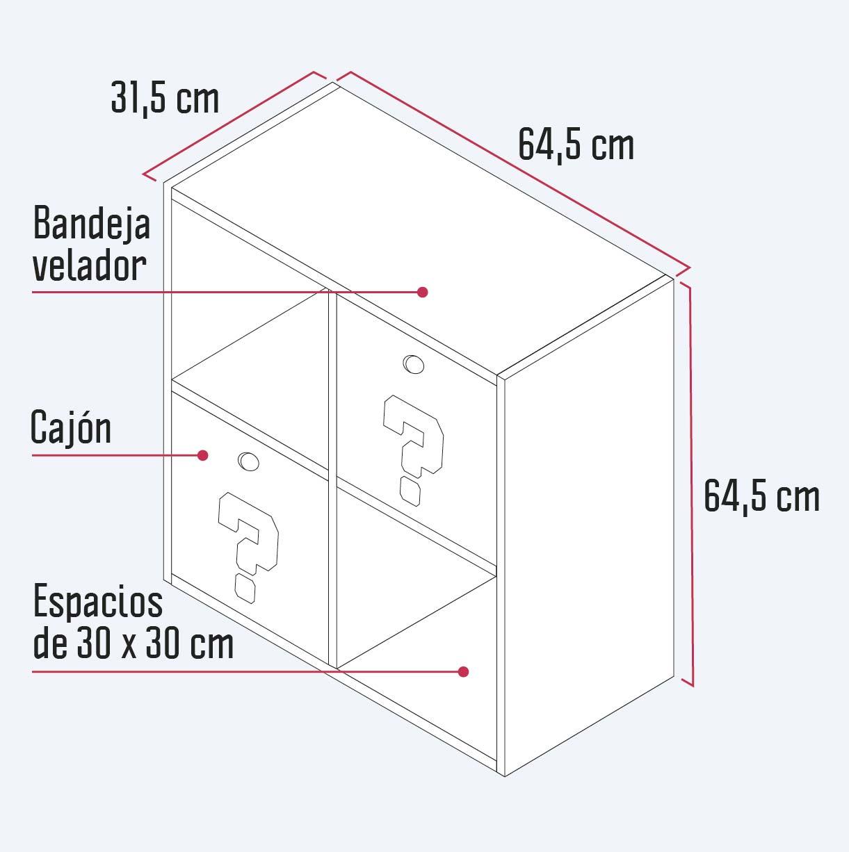 medidas del mueble organizador
