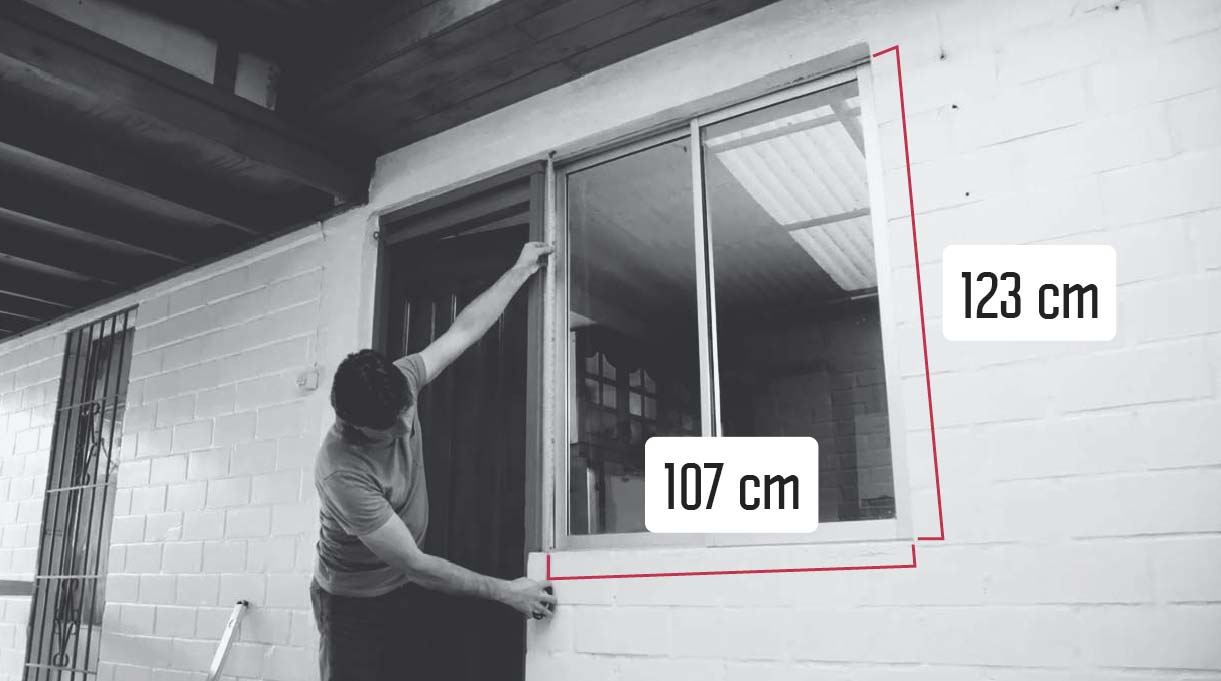 tomar medidas del vano para la ventana nueva