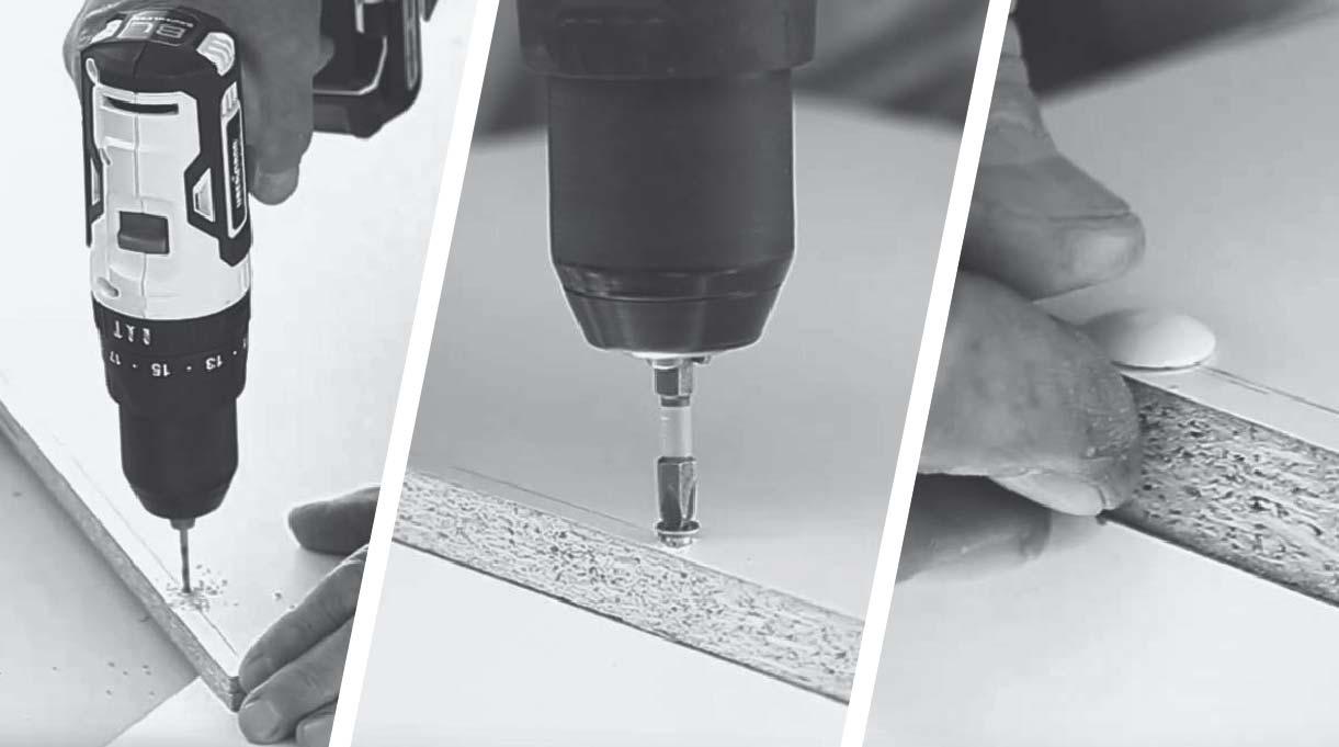 perforar la madera con broca de 6 mm, atornillar el soberbio y colocar la tapa del soberbio