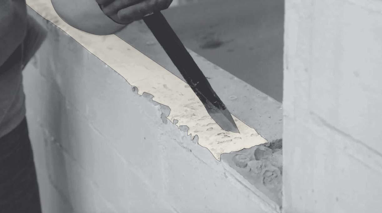 picar la superficie para asegurar adherencia