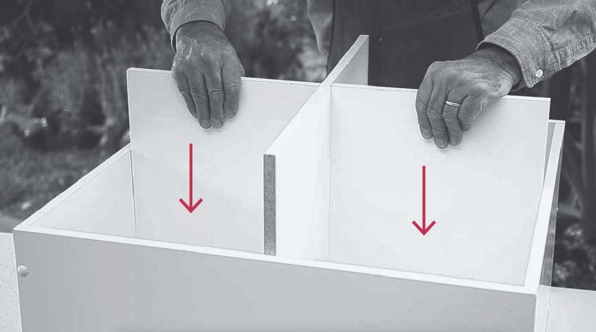 insertar las divisiones internas en la estructura