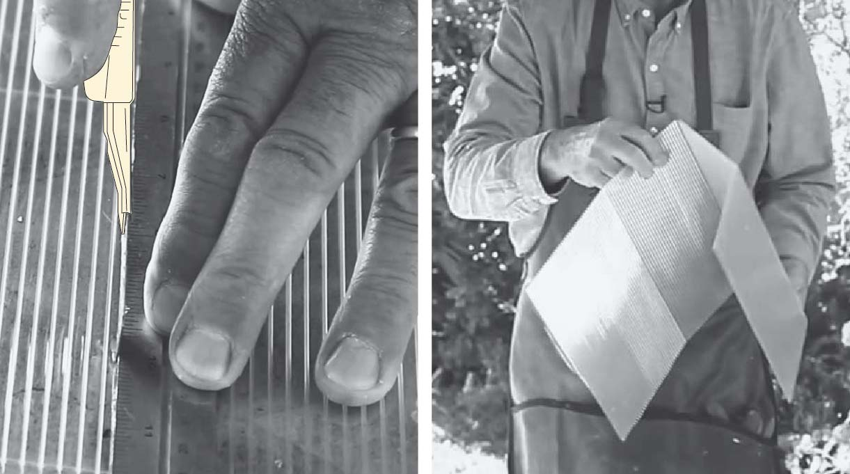 hacer los cortes en el policarbonato por el mismo lado
