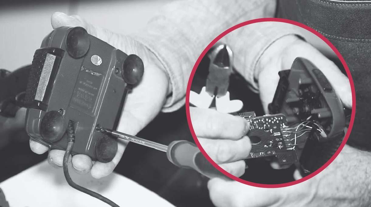 desmontar el joystick y sacar las piezas internas que no sirvan