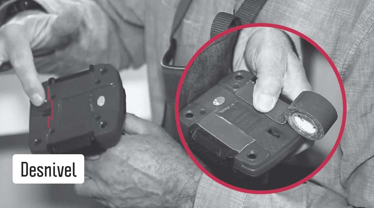 colocar cinta de contacto en la base del joystick para emparejarla