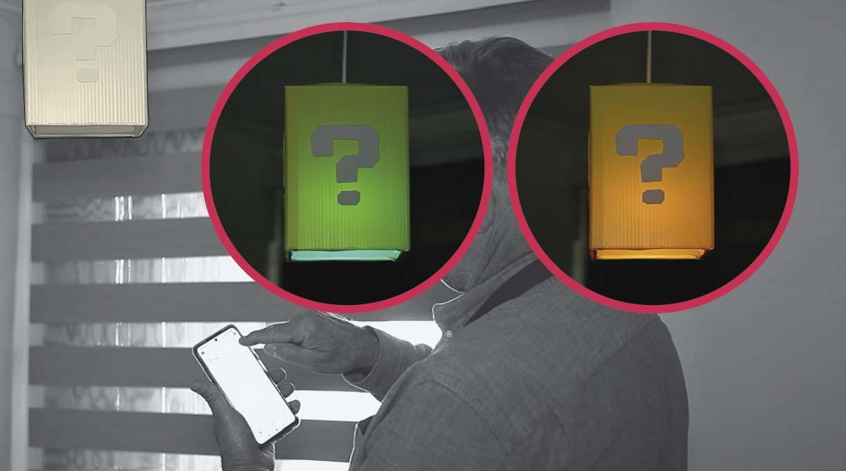 cambiar las luces de la ampolleta desde el celular