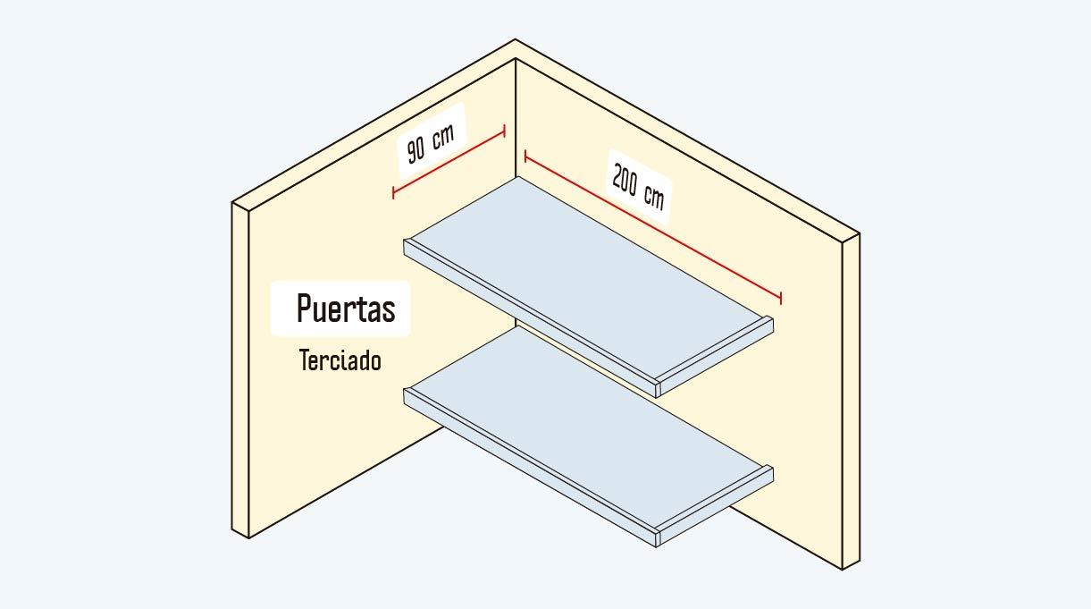 puertas de terciado de 90 x 200 cm