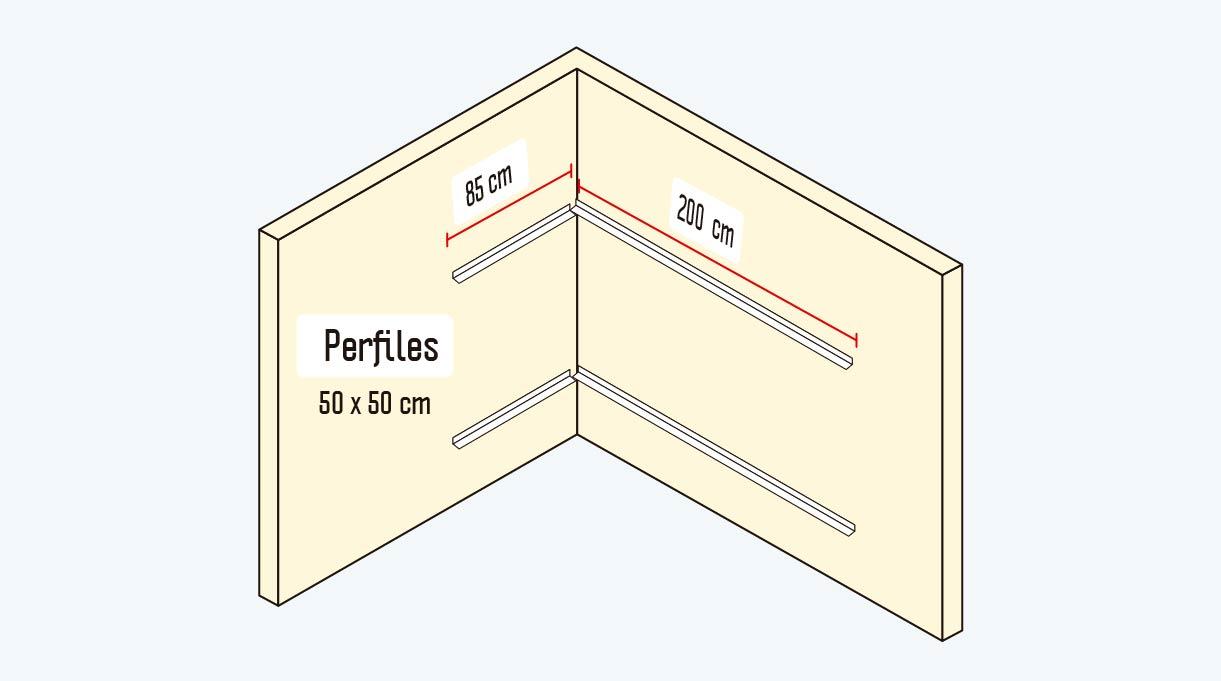 perfiles de 50 x 50 cm
